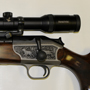 The scope is installed using Blaser proprietary detachable base-rings.