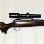 A modern German Mauser in left hand configuration and 416 Remington Magnum caliber.