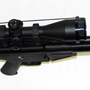 PTR-91 Sniper Rifle with a Trijicon 5-20x50 scope.