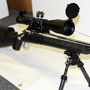 Customized Remington Sendero 300 Remington Ultra Mag with a Schmidt and Bender 5-25x56 P4F, a great long range rig.