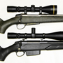 This customer likes to combine Finnish rifles with Leupold scopes. Top: Sako Tecomate 300 WSM with Leupold VX-3 4.5-14x50 Long Range scope with Boone & Crockett Reticle. Bottom: Tikka T3 Varminter in 22-250 with Leupold VX-3 6.5-20x50 LR Varmint Hunter scope.