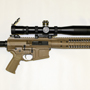 The new LWRC R.E.P.R. fluted 16 inches Tan with a Schmidt and bender 4-16x42 P4 Fine.
