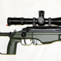 Another Sako TRG-22 in 308 Winchester/7.2x51 NATO. This one is in Green Color and has a flash hider. The scope is a Schmidt and Bender 5-25x56 with the P4 Fine ranging reticle.
