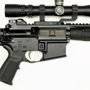 LWRC SPR with a Nightforce 2.5-10x32 MilDot in a GG&G quick detachable mount.