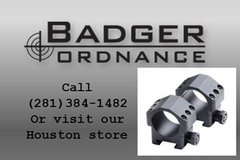 Call (281)384-1482 or visit our Houston Store for Badger Ordnance products
